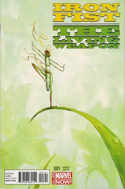 Iron Fist Living Weapon #1 Animal Variant Grasshopper Marvel 2014 ANMN