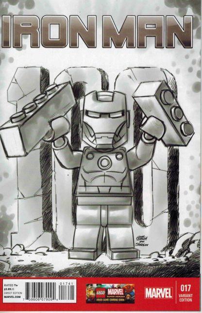 Iron Man #17 1:100 Leonel Castellani Lego Sketch Variant Marvel NOW 2012