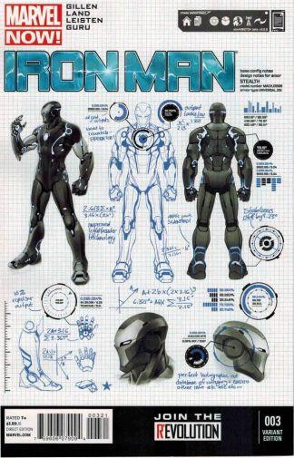 Iron Man (2012) #3 Carlos Pagulayan Design Variant