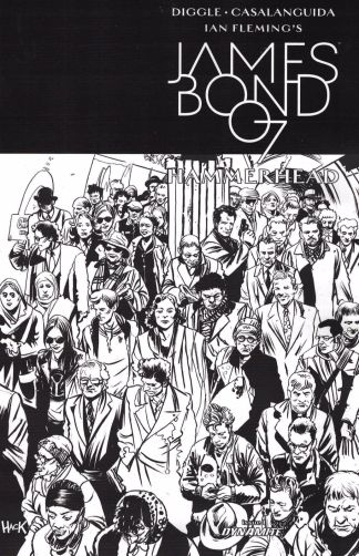 James Bond Hammerhead #1 1:10 Robert Hack Black & White B&W Sketch Variant 2016
