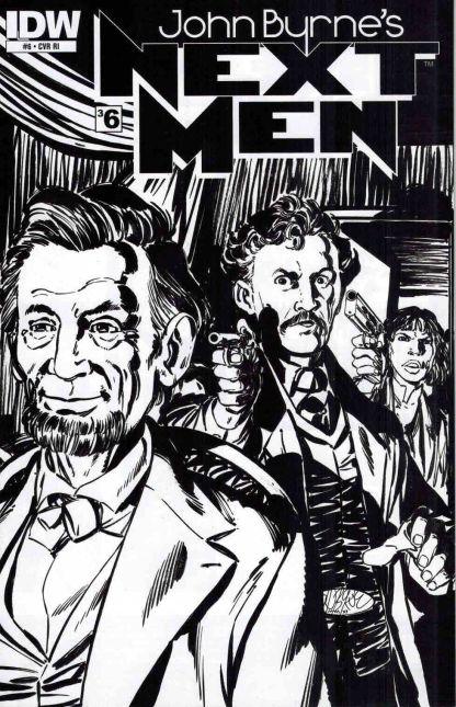 John Byrne's Next Men #6 Black and White Sketch Variant
