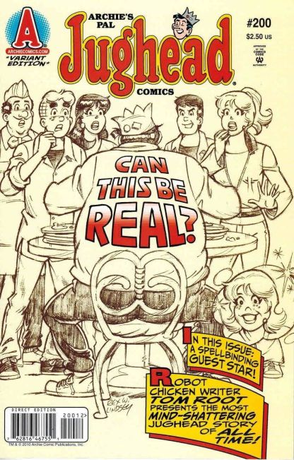 Jughead #200 Rex Lindsey Sketch Variant