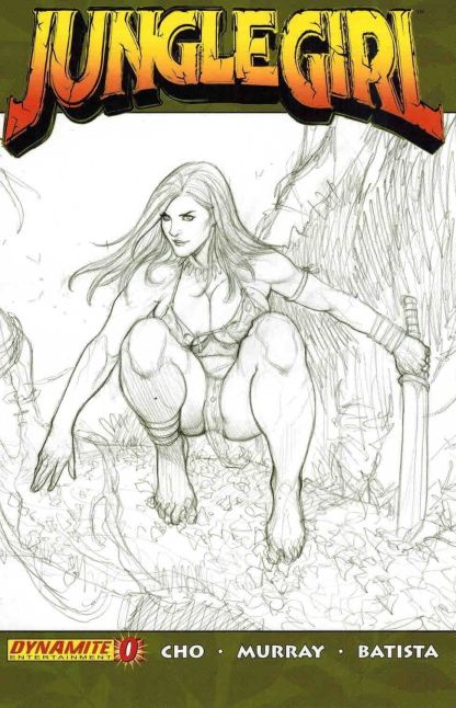 Jungle Girl #0 Frank Cho Black and White Sketch Variant