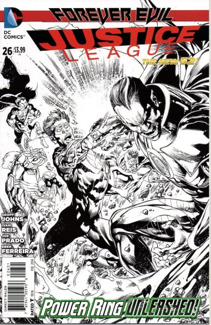 Justice League #25 1:100 Ivan Reis Black and White Sketch Variant Forever Evil