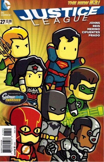 Justice League #27 Scribblenauts Unmasked Variant