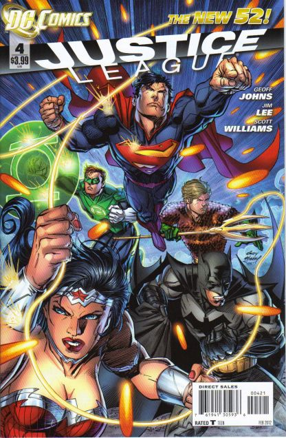 Justice League #4 1:25 Andy Kubert Variant DC New 52 2011
