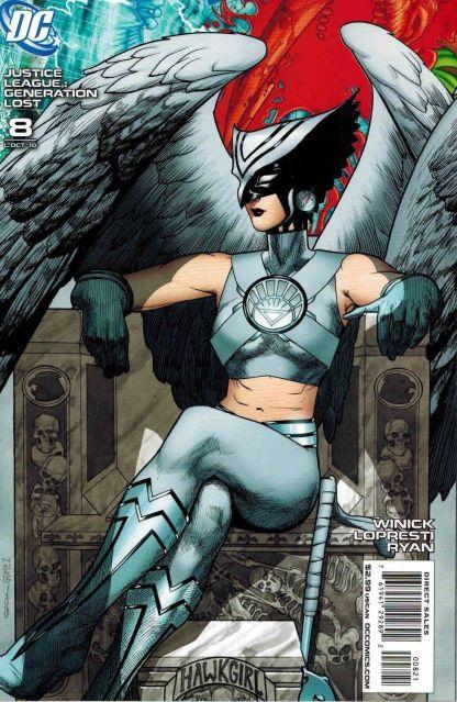 Justice League: Generation Lost #8 Ryan Sook White Lantern Hawkgirl Variant
