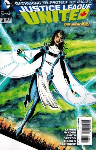 Justice League United #3 1:25 Jeff Lemire Variant Cover
