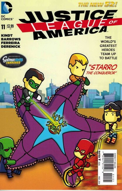 Justice League of America #11 Scribblenauts Unmasked Variant