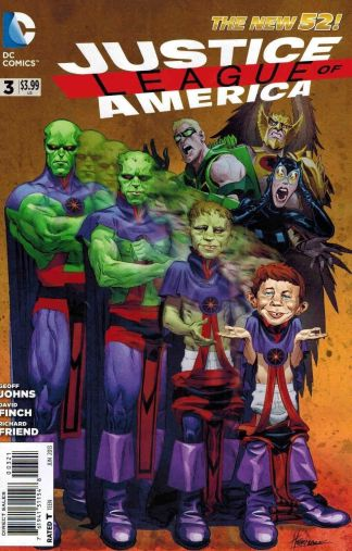 Justice League of America #3 New 52 MAD Alfred E. Neuman Variant