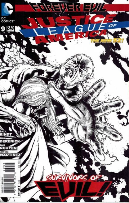 Justice League of America #9 Black and White Doug Mankhe Sketch Variant