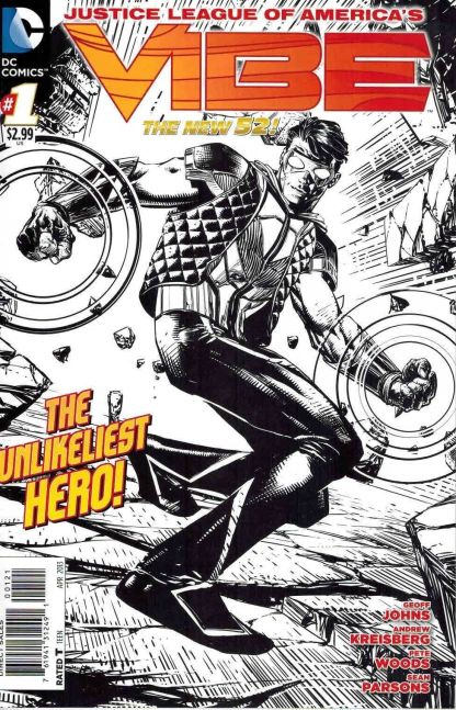 Justice League of America's Vibe #1 Black and White Sketch Variant