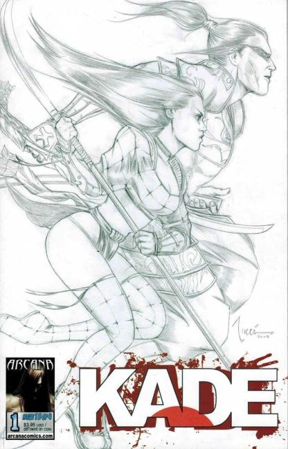 Kade #1 Billy Tucci Black and White Sketch Variant Shi
