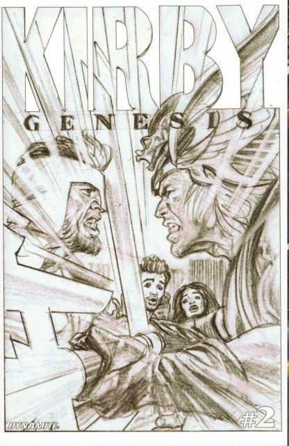 Kirby: Genesis #2 Alex Ross Black and White Sketch Variant