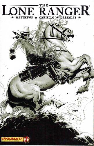 Lone Ranger #7 John Cassaday Black and White Sketch Variant
