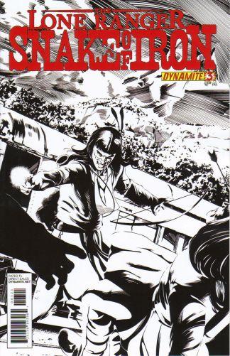 Lone Ranger: Snake of Iron #3 Dennis Calero Black & White Variant