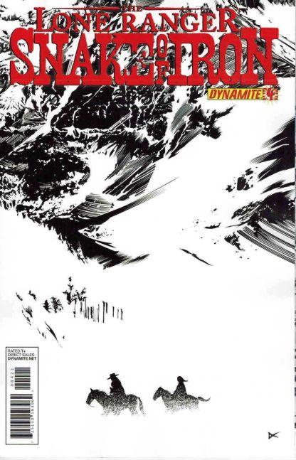 Lone Ranger: Snake of Iron #4 Dennis Calero Black & White Variant