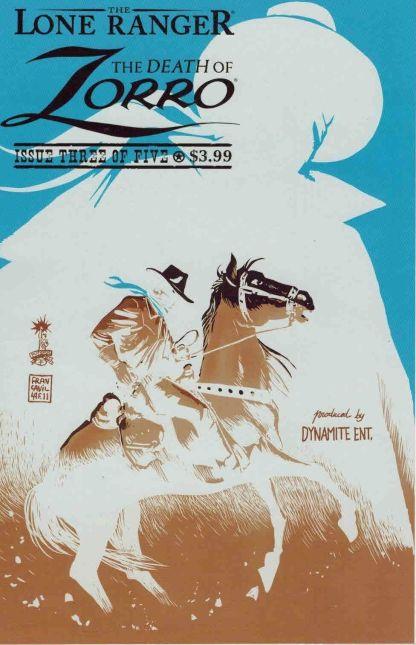 Lone Ranger: The Death of Zorro #3 Francesco Francavilla Photo Negative Variant
