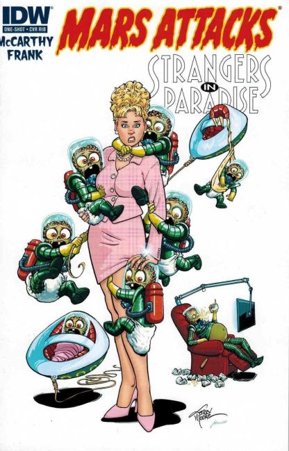 Mars Attacks Transformers #1 1:20 Terry Moore Strangers in Paradise Variant