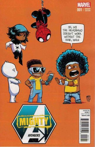 Mighty Avengers #1 Skottie Young Marvel Babies Variant Luke Cage