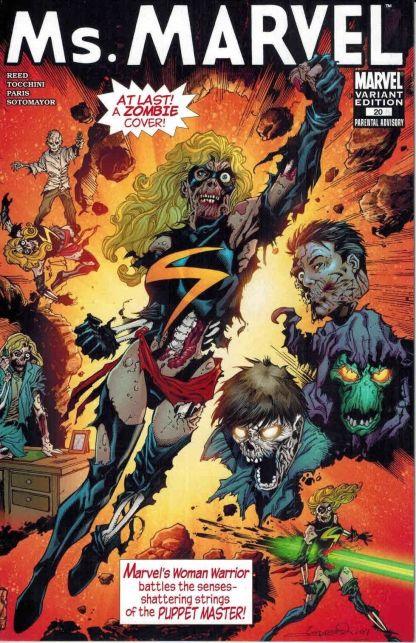 Ms. Marvel #20 Aaron Lopresti Zombie Variant