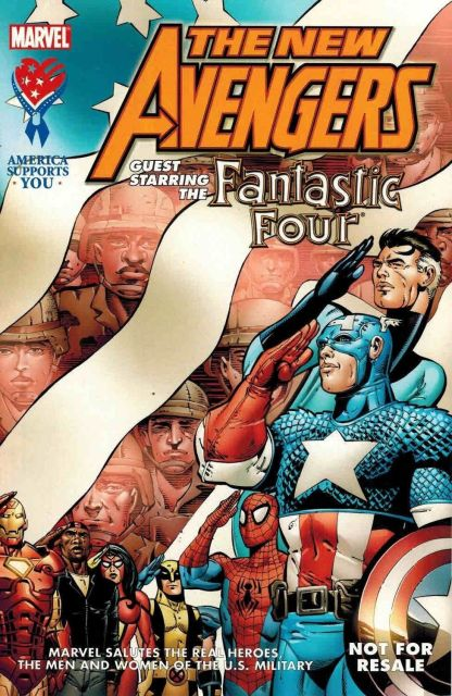 New Avengers: America Supports You Military Special With Fantastic Four