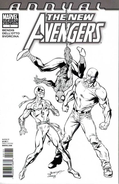 New Avengers Annual #1 Mark Bagley Black and White Sketch Variant