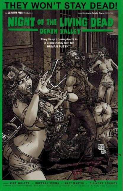 Night of the Living Dead: Death Valley #1 Signed Avatar Retailer Variant