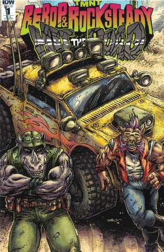 TMNT Bebop & Rocksteady Hit the Road #1 1:100 Eastman Variant IDW 2018