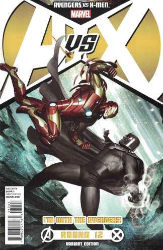 Avengers vs X-Men #12 Adi Granov Iron Man Team A Variant Marvel 2012