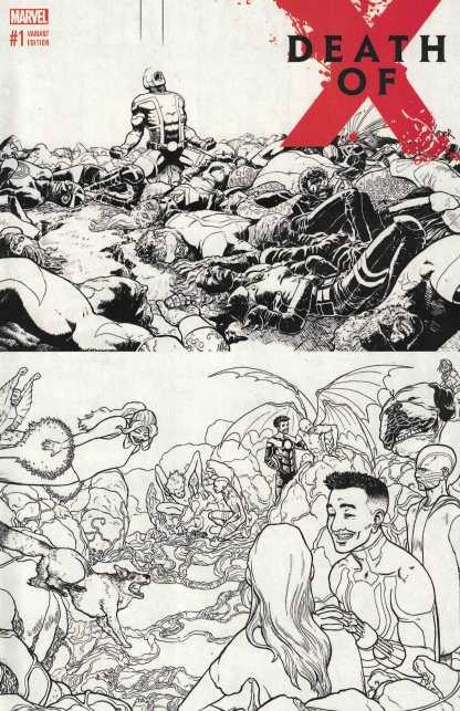 Death of X #1 1:50 Aaron Kuder Black & White Wraparound Sketch Variant Marvel