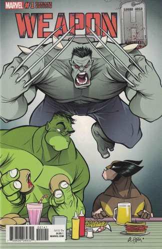 Weapon H #1 1:25 Georges Duarte Variant Marvel Legacy 2018 Wolverine Hulk