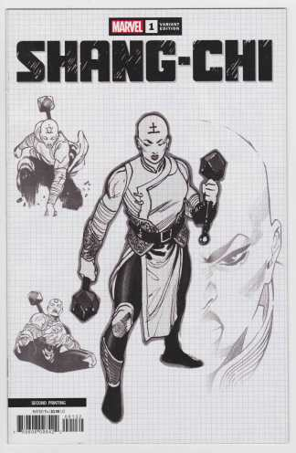 Shang Chi #1 Second Print 1:25 Dike Ruan Design Variant Marvel 2020 VF/NM