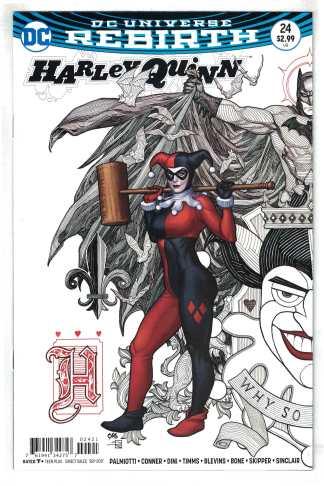 Harley Quinn #24 Frank Cho Batman Joker Variant DC Rebirth 2016 VF/NM