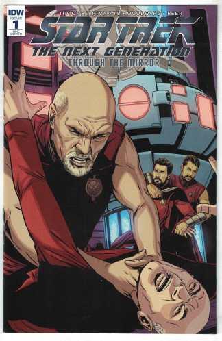 Star Trek TNG Through the Mirror #1 1:100 Laming Variant RI-C IDW 2018 VF/NM