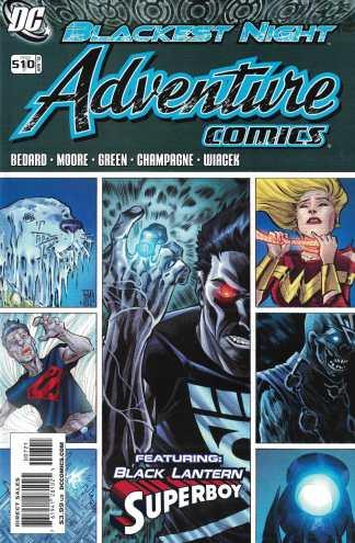 Adventure Comics #7 1:10 Francis Manapul #510 Variant DC 2009 Blackest Night