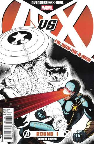 Avengers vs X-Men #1 Team X-Men Cyclops Ryan Stegman Variant Marvel 2012