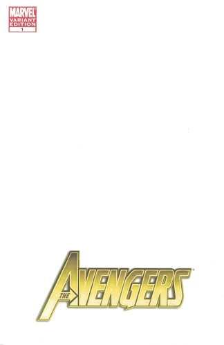 Avengers #1 Blank Sketch Variant Marvel 2010 Heroic Age 1st Azari Black Panther