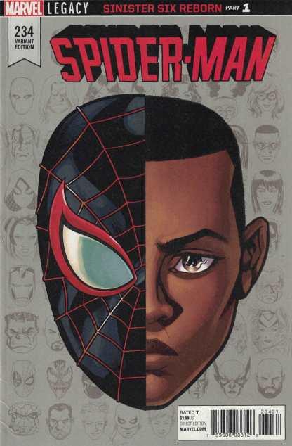 Spider-Man #234 1:10 Mike McKone Headshot Variant Marvel Legacy