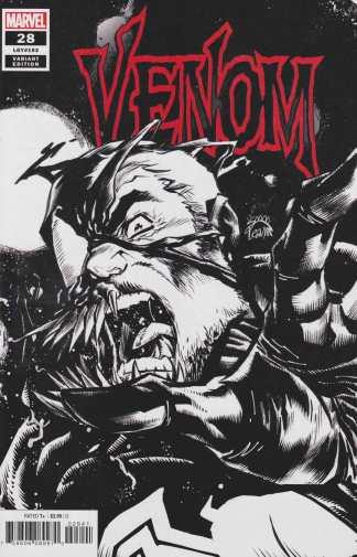 Venom #28 1:100 Ryan Stegman Black & White Variant Marvel 2018
