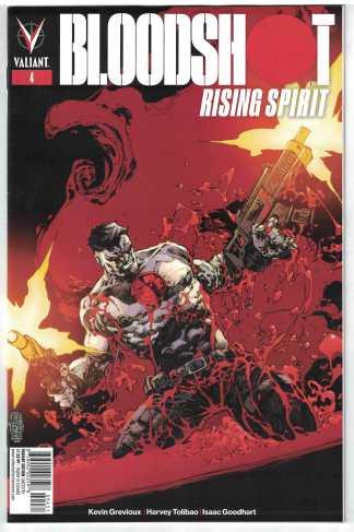 Bloodshot Rising Spirit #4 1:20 Eric Battle Cover C Variant Valiant 2018 VF/NM
