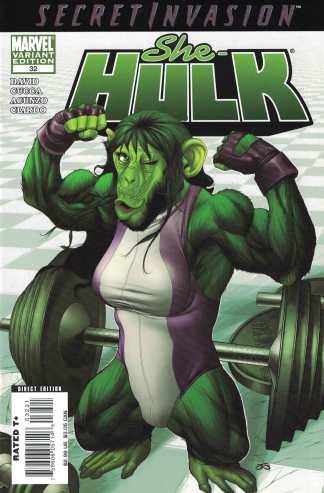 She-Hulk #32 Frank Cho Marvel Apes Variant 2005