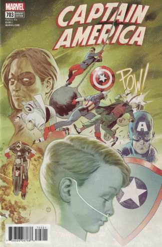 Captain America #703 Julian Totino Tedesco Connecting Variant Marvel Legacy