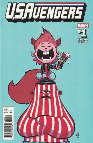 US Avengers #1 Skottie Young Marvel Babies Variant 2016 Squirrel Girl