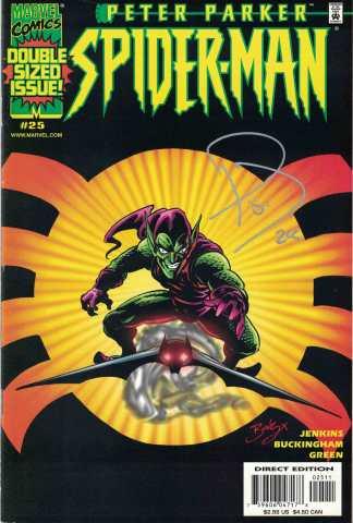 Peter Parker Spider-Man #25 Mark Buckingham Variant Dynamic Forces COA Marvel 1999