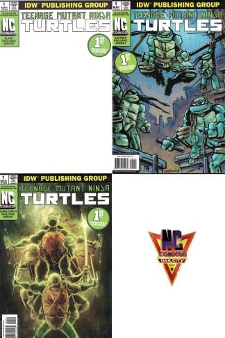 Teenage Mutant Ninja Turtles #1 NC Comicon Variant Set Blank Templesmith Eastman