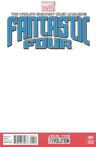 Fantastic Four #1 Blank Sketch Variant Marvel NOW 2012