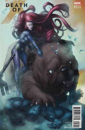 Death of X #2 Mike Choi Connecting Variant Lockjaw Variant Marvel X-Men 2016