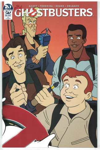 Real Ghostbusters 35th Anniversary #1 1:10 Marques Connecting Variant IDW VF/NM