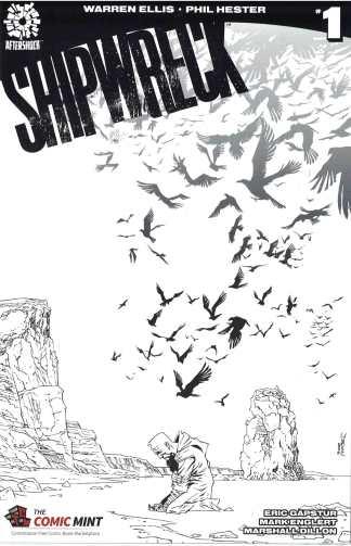Shipwreck #1 Declan Shalvey Comic Mint Black White Sketch Variant Ellis 2016